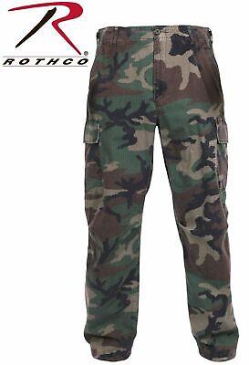 ROTHCO 4271 Woodland Camo Vintage 100% Rip-Stop Vietnam Era BDU Fatigue Pants -