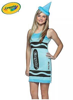 NEW Rasta Imposta Crayola Crayon TEEN Halloween Costume - Sky Blue