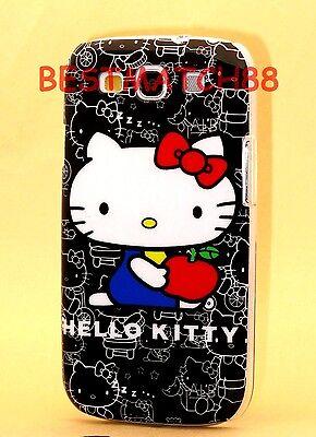 FOR SAMSUNG GALAXY S3 hello kitty PHONE  BLACK WHITE RED HARD CASE cute / S (Hello Kitty Phone Case For Galaxy S3)