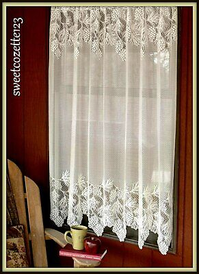 """HERITAGE LACE Ecru WOODLAND Alpine Woods Panel 60"""" x 63"""" Made USA New with Tag"""