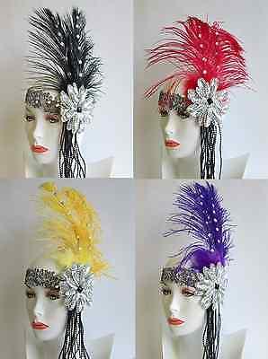 Roaring 20s Headpieces (WOMEN ROARING 20S 20'S CHARLESTON FLAPPER GATSBY COSTUME HEADPIECE HEADBAND)