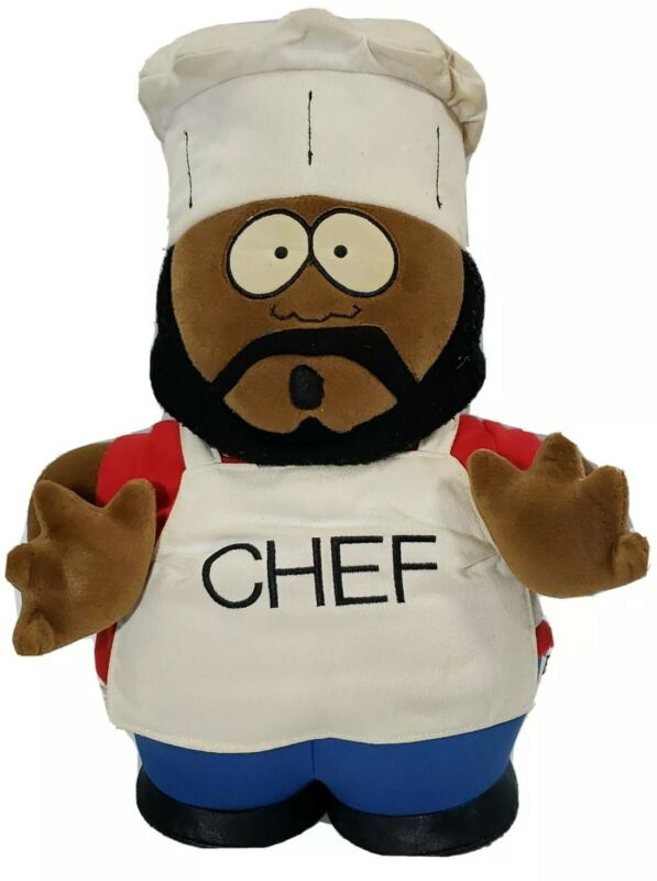 "VNTG 1998 South Park Jerome ""CHEF"" McElroy 14"" Plush Comedy Central Fun 4 All"