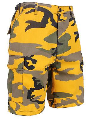 Shorts Camo Yellow Stinger Cargo BDU Military Style Camoufla