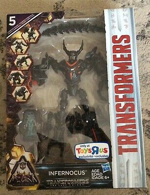 HASBRO TRANSFORMERS INFERNOCUS THE LAST KNIGHT MIB TOYS R US SHIPS FAST
