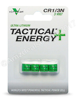 Viridian CR1/3N 3V Lithium Battery (4Pack), New, Free Shipping Tactical