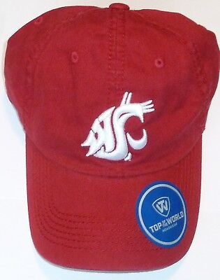 Washington Cougars One Size Cougs Hat Cap 100% Cotton Top Of The World