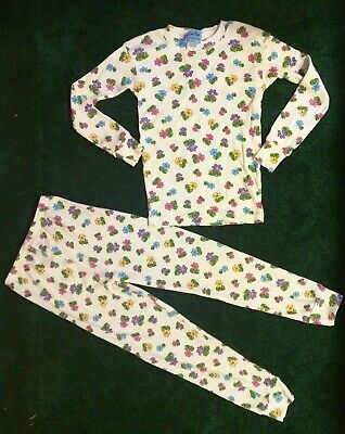 Girls In Pj (girls pajamas PJs flowers 100% cotton high quality *made in USA*)