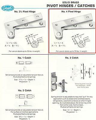 Colonial Bronze Cabinet Hinges - COLONIAL BRONZE #4 OFFSET PIVOT HINGES, POLISHED CHROME