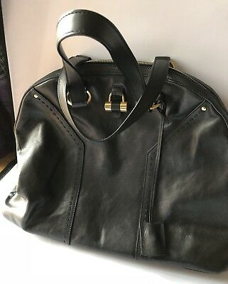 Lovely Saint Laurent Black Calf Leather Over-sized Muse Bag, with Receipt - Oversized-muse