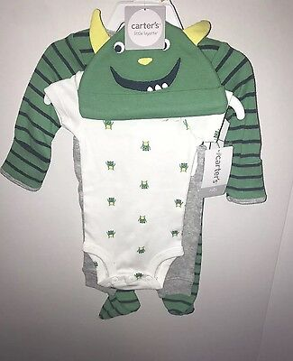 Carters newborn little monster set with pants, pajamas and hat. Little Monster Pant