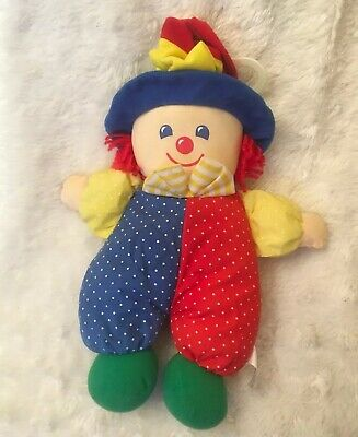 Vintage Kids Gifts Clown Plush Pull Crib Toy Musical Lullaby 12