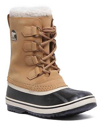 Sorel 1964 Pac 2 Women Suede Leather Waterproof Snow Boot In Black Size UK 3 - 8 3 Pac Boots