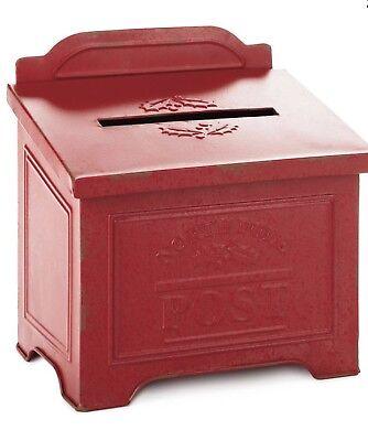 Hallmark Christmas in Evergreen Letters to Santa Red Metal Mailbox 2018 - Santa Mailbox