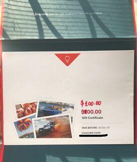 $100 Red balloon gift voucher