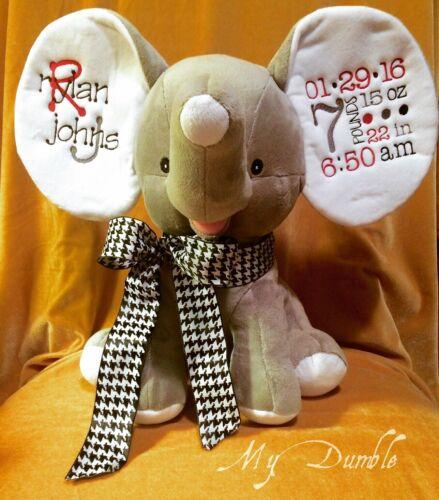 Personalized Custom stuffed animal Elephant, Pig, Gift Monogram Name Your Design