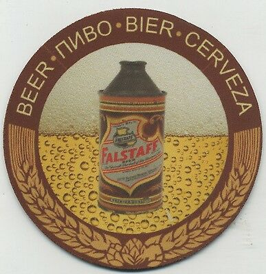 Falstaff Beer Coaster - Cone Top Can design - Bier Cerveza