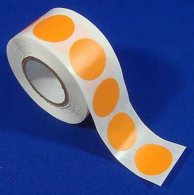 1000 Orange Self-adhesive Price Labels 34 Stickers Tags Retail Store Supplies