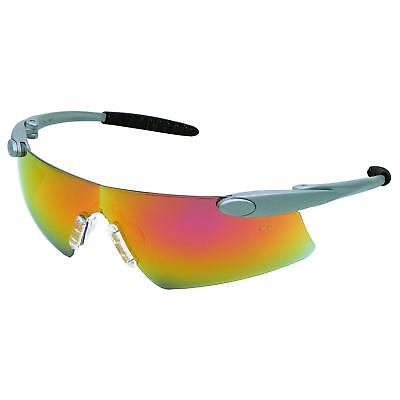 Desperado Safety Glasses With Silver Frame And Red Mirror Du