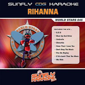 RIHANNA-SUNFLY-KARAOKE-CD-G