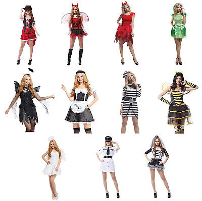 Original Halloween Costumes For Women (Women's Costumes Set, Priate/Pilot/Maid/Prisoner/Devil/Corpse)