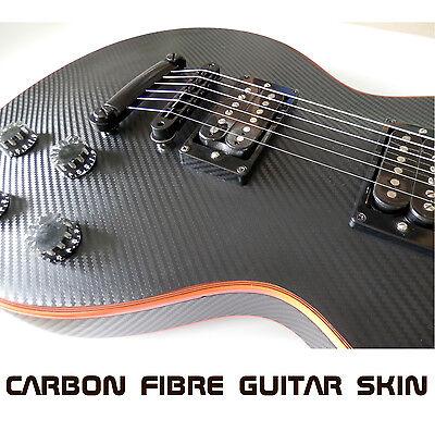 Black Carbon Fibre Vinyl Skin Wrap for Electric Guitar Air Lease Sticker DIY ()