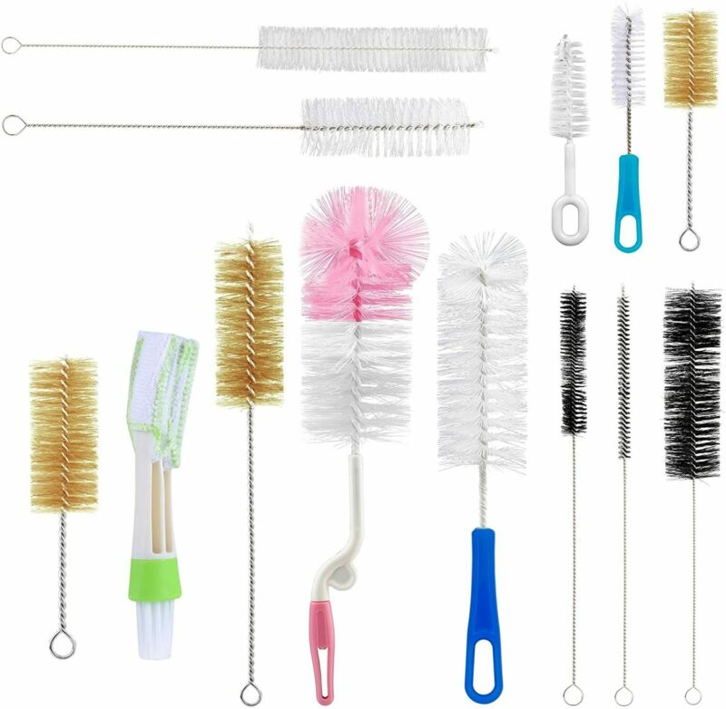 Food Grade Multipurpose Cleaning Brush Set 13Pc Includes Straw Brush Nipple