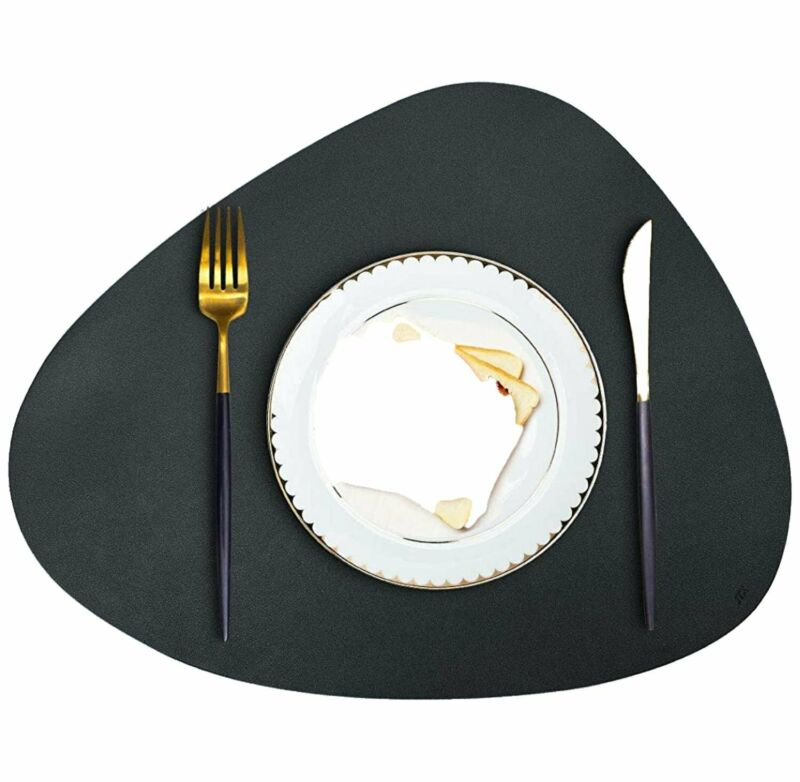 Kitchen Table Leather Placemat Dinner Decor mat - Handmade Faux PU Leather