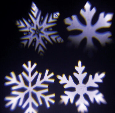 UK Outdoor Moving LED Snowflake Laser Light Projector Lamp for Xmas Party Decor