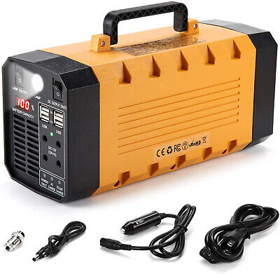 Portable Solar Generator 500W 288WH UPS Station Emergency Battery Backup Power