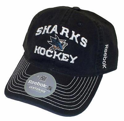 957ed3314e97ef Reebok San Jose Sharks Slouch Adjustable Cap NHL Center Ice Hat