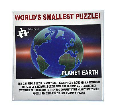 Jigsaw Puzzle   Worlds Smallest   Planet Earth   234 Pieces