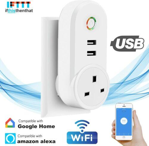 WiFi Smart Plug UK Socket Mini Wall Outlet Switch Life Google Home Amazon Alexa