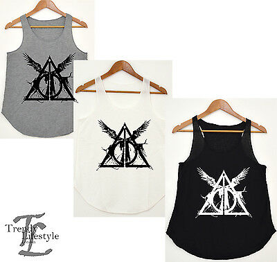 HARRY POTTER INSPIRED DEATHLY HOLLOW CURSED CHILD VEST TANK TOP VERY TRENDY