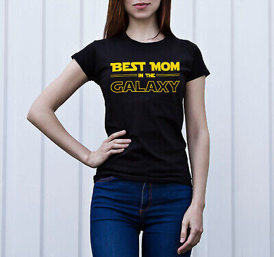 Best Mom Star Wars Unisex Print Woman T-Shirt Cotton Woman T-Shirt Women T