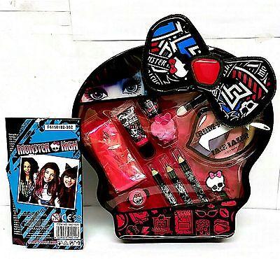 Monster High Skulltastic Character Makeup Tote Set Lip Gloss Nail Polish Hair ()