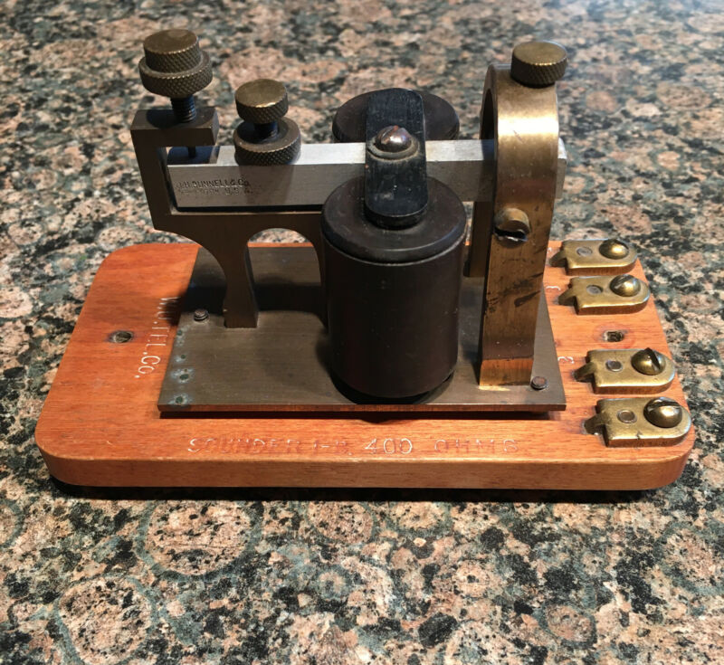 J. H. BUNNELL CO NEW YORK - Western Union Co. Telegraph SOUNDER 1-B 400 OHMS