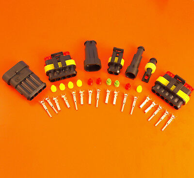 Amp Superseal Waterproof Electrical Connector Kits - 1 2 3 4 5 6 Way - 1224v