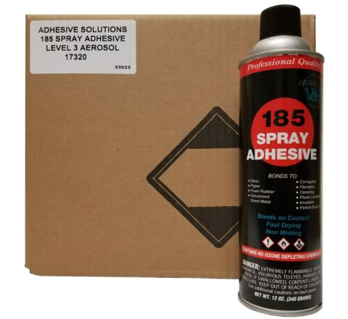 V&S 185 Industrial Spray Adhesive Case with 12 cans
