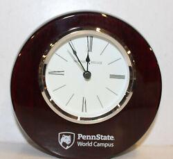 Howard Miller Mahogany Desk Clock, PennState Campus Model #645-708 AO1022566