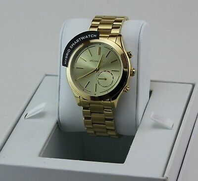 NEW AUTHENTIC MICHAEL KORS SLIM RUNWAY ACCESS HYBRID SMARTWATCH WOMEN'S MKT4002
