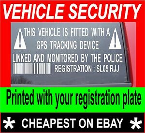 2X-VEHICLE-CAR-VAN-SECURITY-GPS-TRACKER-ALARM-STICKERS