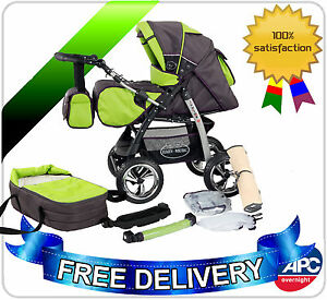 Junior-pram-pushchair-stroller-buggy-2-in1-from-Baby-Merc