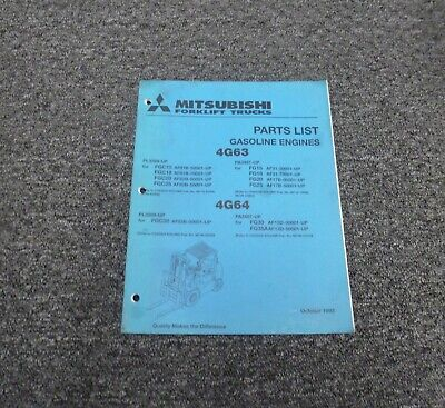 Mitsubishi 4g63 Gasoline Engine On Fgc20 Fgc25 Forklift Parts Catalog Manual