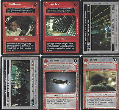 6 cards Star WARS Customizable Card Game CCG - genau die auf dem Scan 9