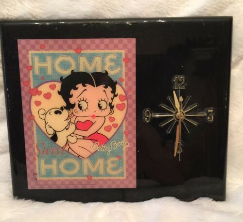 Vintage Betty Boop Wall Clock 1999 King Features Syndicate Home Sweet Home Retro