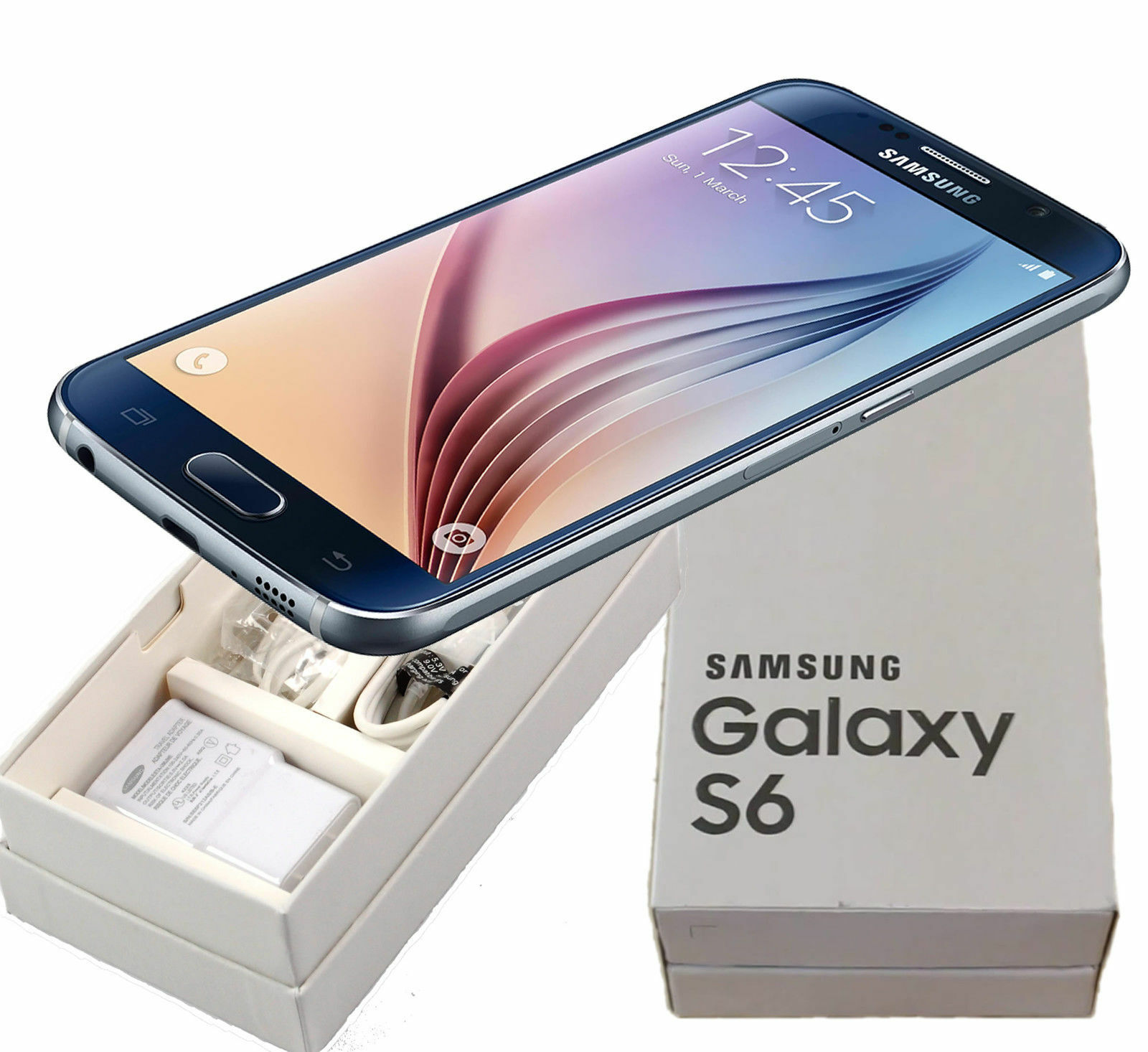 $227.99 - New Samsung Galaxy S6 SM-G920T 32GB T-Mobile Black Sapphire Smartphone