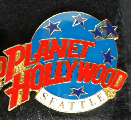 Seattle Pacific Northwest Planet Hollywood Blue Planet w Stars Logo PH Lapel Pin