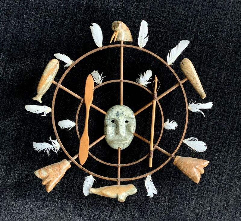 Northwest Coast Seal - Whale - Hunter Circle Sculpture