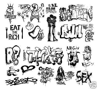O Scale Custom Graffiti Decals #6 - Weather Your Box Cars, Gondolas & Hoppers!