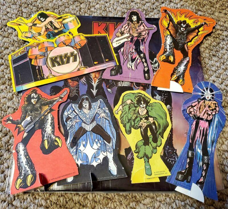 Kiss Aucoin rub n play figures vintage original rub n